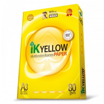 IK Yellow Paper 80gsm - A3 Size - 1 ream - 450 sheets