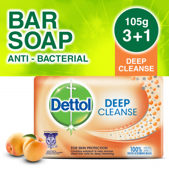 Dettol Body Soap Deep Cleanse 105g 3+1 (free)