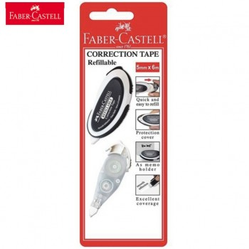 Faber Castell 169102 Correction Tape BC + Refill (5mm x 6m)
